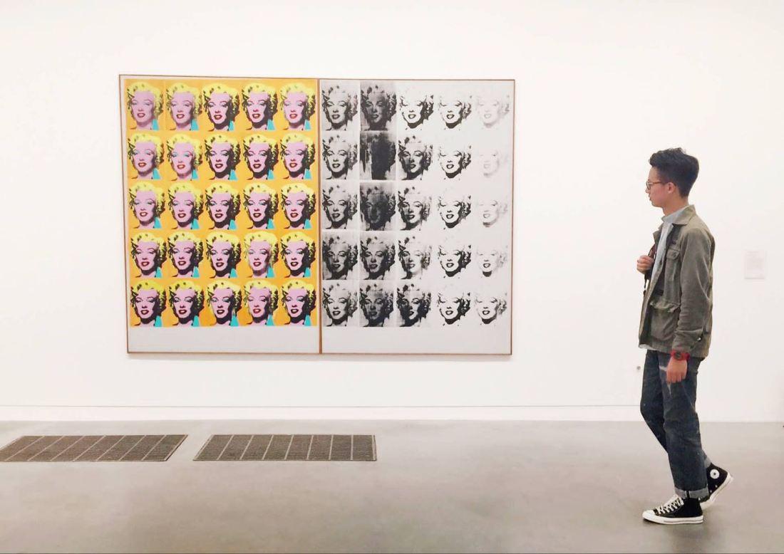 Tate Modern,我与Marilyn Diptych